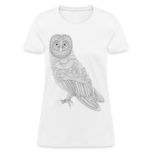 Owl Design T- Shirt (Womans) - Women's T-Shirt