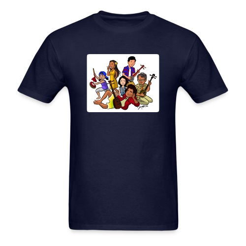 UchinaAloha Cast Caricature -- MENʻS T-Shirt - Men's T-Shirt