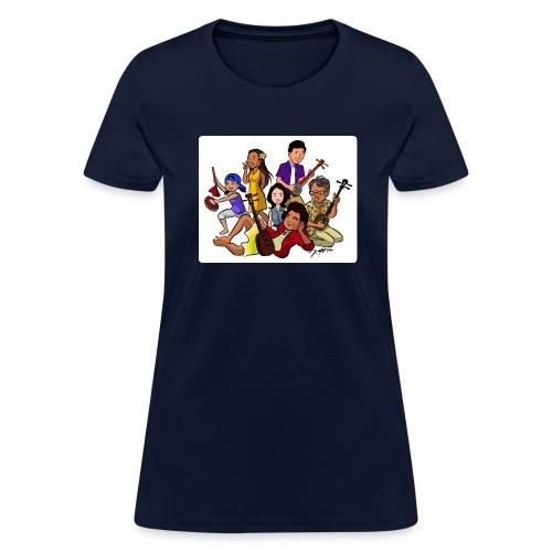 UchinaAloha Cast Caricature -- WOMENʻS T-Shirt - Women's T-Shirt