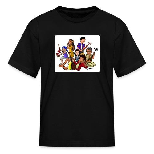 UchinaAloha Cast Caricature -- CHILDRENʻS T-Shirt - Kids' T-Shirt