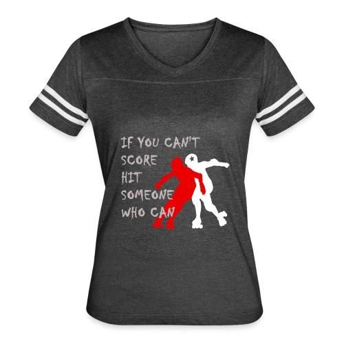 Hit Someone Roller Derby T-shirt - Women's Vintage Sport T-Shirt