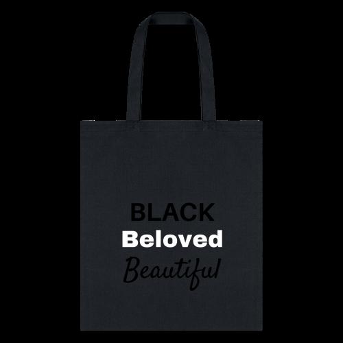 Black Beloved Beautiful - Tote Bag