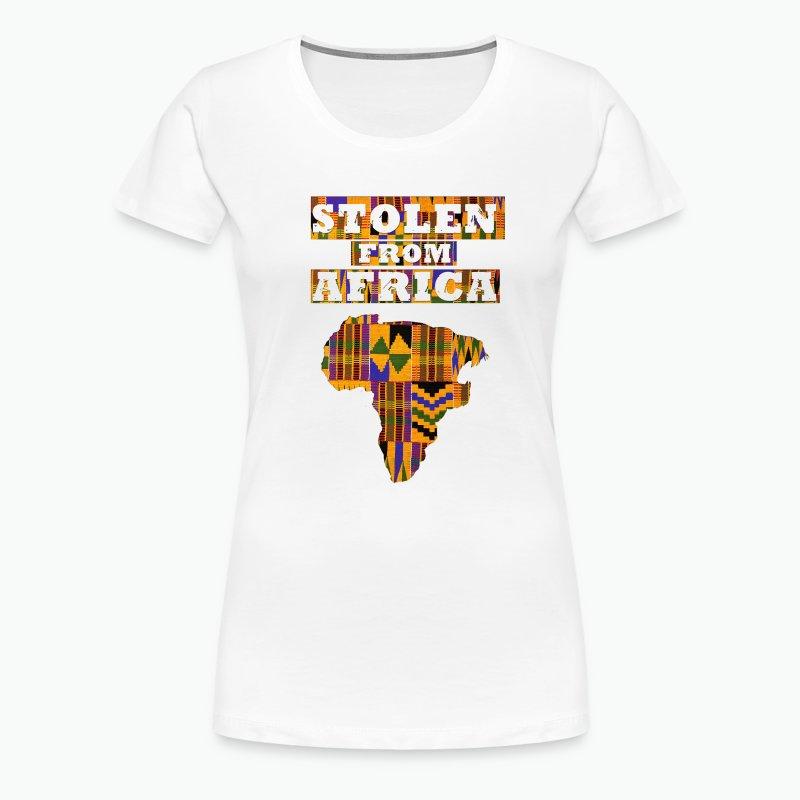 Stolen From Africa T-shirt - Kente - Women's Premium T-Shirt