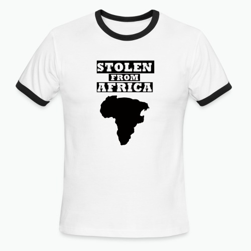 STOLEN FROM AFRICA LOGO ® - Men's Ringer T-Shirt