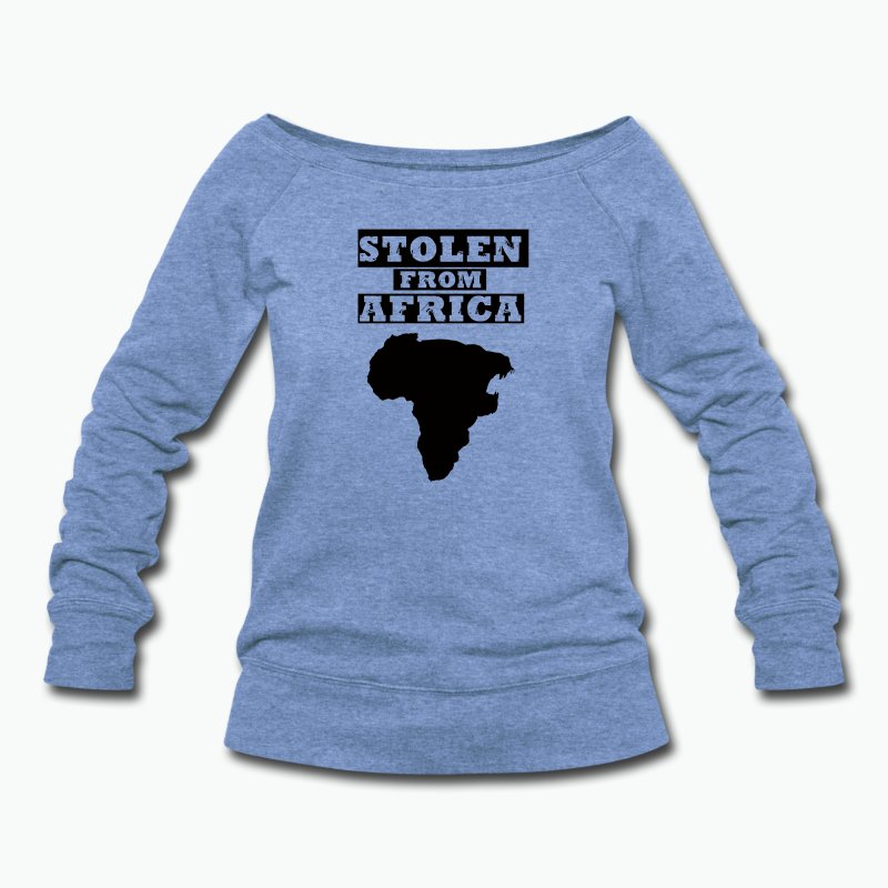 STOLEN FROM AFRICA LOGO ® - Women's Wideneck Sweatshirt