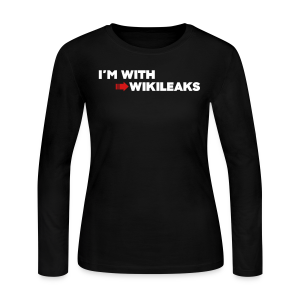 I'm With WikiLeaks - Women's Long Sleeve Jersey T-Shirt