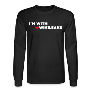 I'm With WikiLeaks - Men's Long Sleeve T-Shirt