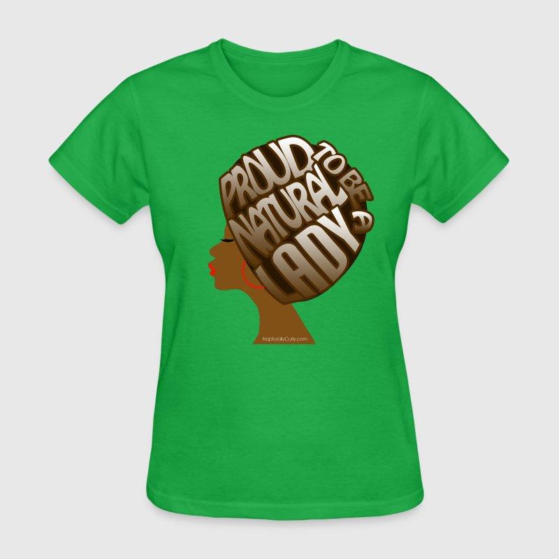 Proud natural afro art t shirt spreadshirt for Hair salon t shirt designs