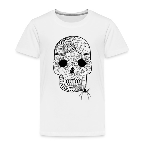Sugar Skull Toddler Premium T-Shirt from South Seas Tees - Toddler Premium T-Shirt