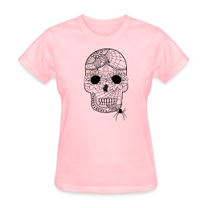 Sugar Skull T-Shirt for women from South Seas Tees - Women's T-Shirt