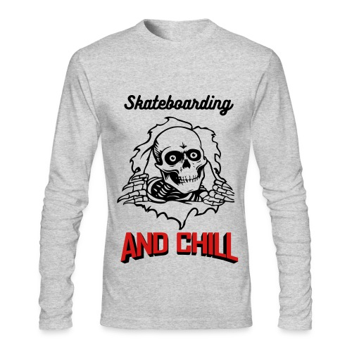 Skateboarding and chill long - Men's Long Sleeve T-Shirt by Next Level