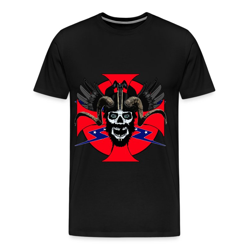Men's Premium T-Shirt - Viking rebel skull