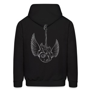 Love Music Guitar Wings Hoody - Men's Hoodie