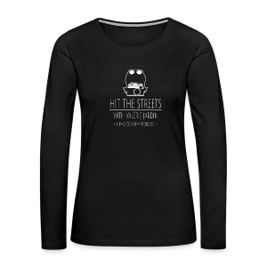 Women's long sleeve shirt with large logo - Women's Premium Long Sleeve T-Shirt