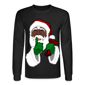 African Santa Clause Shirt Men's Christmas Shirts - Men's Long Sleeve T-Shirt