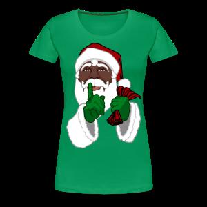 African Santa T-Shirts Women's Christmas Shirts - Women's Premium T-Shirt