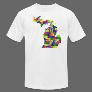 Michigan Indian Trails - Men's T-Shirt by American Apparel