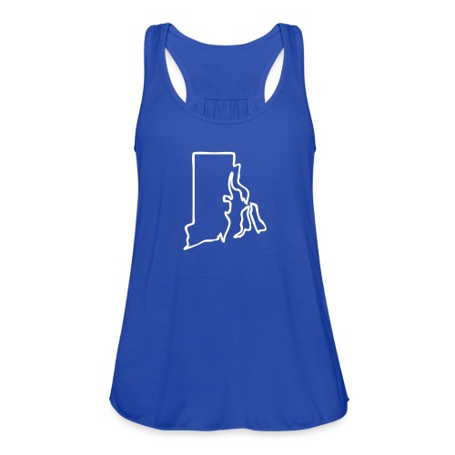 Rhode Island Outline Womens - Women's Flowy Tank Top by Bella