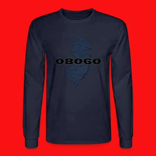 08060 New Jersey shirt - Men's Long Sleeve T-Shirt