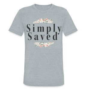 Simply Saved Tee - Heather Gray - Unisex Tri-Blend T-Shirt by American Apparel
