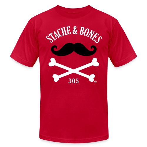 STACHE & BONES SOCIETY 305 Official - Men's Fine Jersey T-Shirt