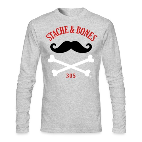 STACHE & BONES 305 Official - Men's Long Sleeve T-Shirt by Next Level
