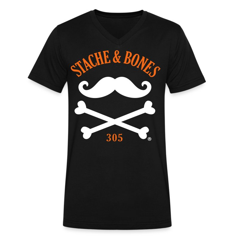 STACHE & BONES 305 Official - Men's V-Neck T-Shirt by Canvas