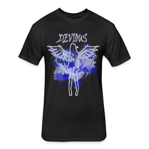 Men's 'Devious' FASHION TEE - Fitted Cotton/Poly T-Shirt by Next Level