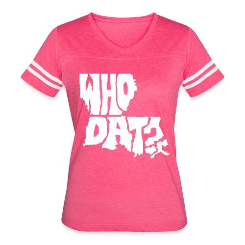WHO DAT? Women's Vintage Sport T-Shirt PINK - Women's Vintage Sport T-Shirt