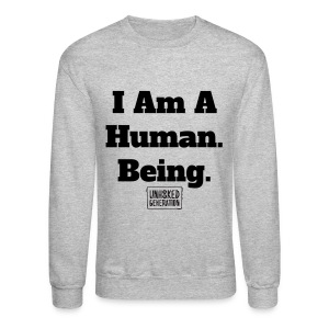 Human. Being. GRY - Crewneck Sweatshirt