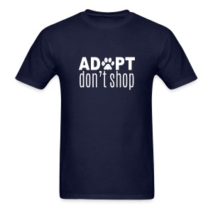 Adopt Don't Shop (feeds 20 shelter animals) - Men's T-Shirt