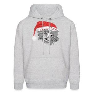 Christmas Kitty Men's Hoodie from South Seas Tees - Men's Hoodie