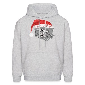 Christmas Kitty Men's Hoodie from South Seas Tees - Men's Hoodie