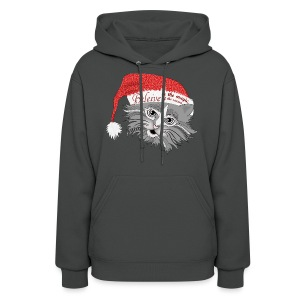 Christmas Kitty Women's Hoodie from South Seas Tees - Women's Hoodie