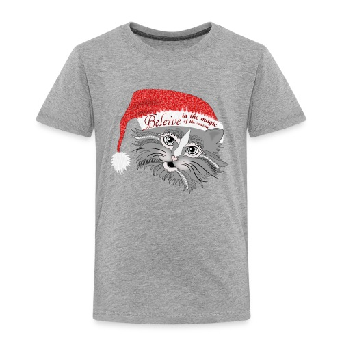 Christmas Kitty Toddler Premium T-Shirt from South Seas Tees - Toddler Premium T-Shirt