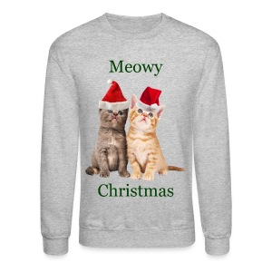 Meowy Christmas Kitten Long Sleeve Shirt - Crewneck Sweatshirt