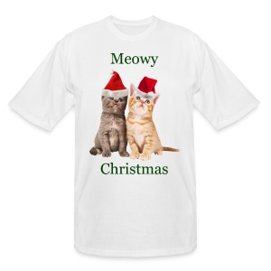 Meowy Christmas Kitten Shirt - Men's Tall T-Shirt