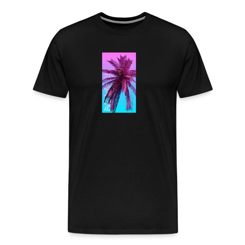 Palm Tree (V A P O R W A V E S T Y L E) - Men's Premium T-Shirt