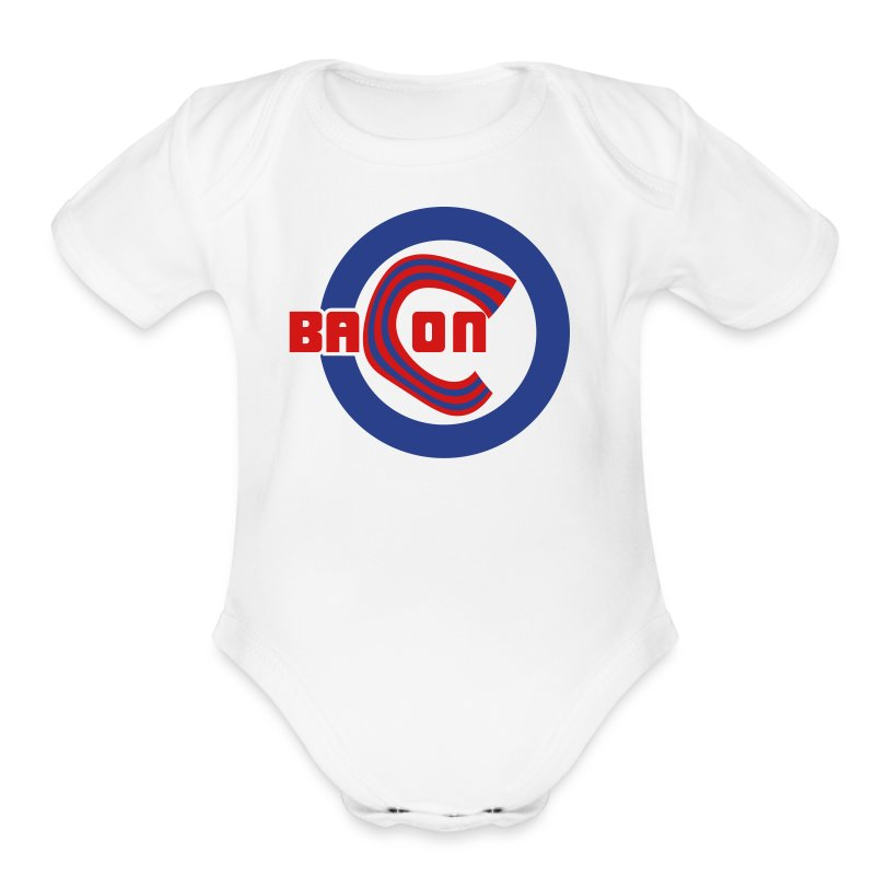 Chicago Bacon Baseball Baby   Body Suit Jumper - Short Sleeve Baby Bodysuit