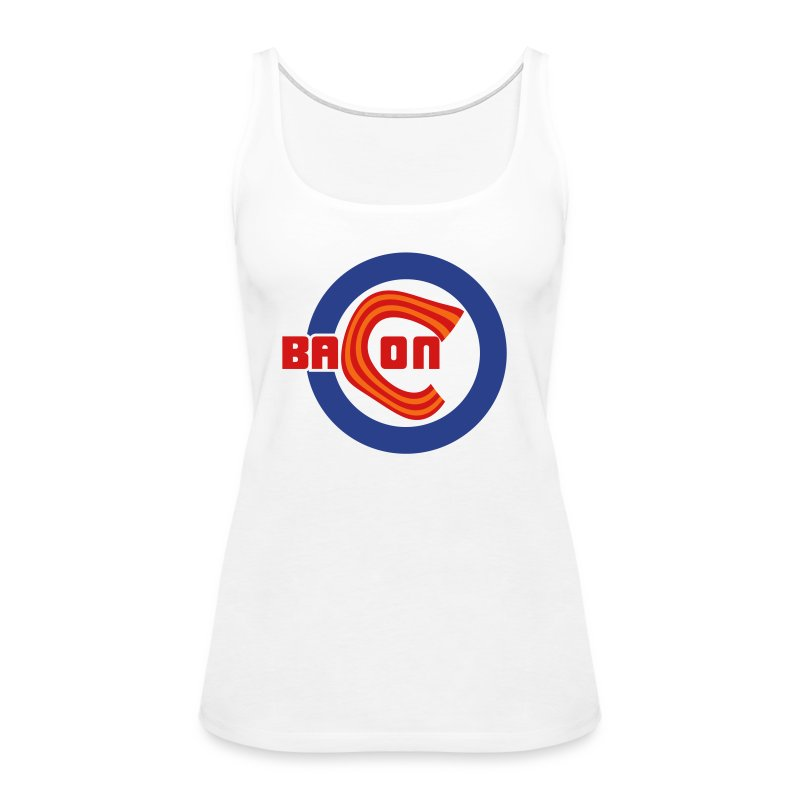 Chicago Bacon Baseball Ladies Tank - Women's Premium Tank Top