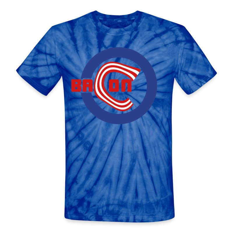 Chicago Bacon Baseball Tie Dye Tee - Unisex Tie Dye T-Shirt