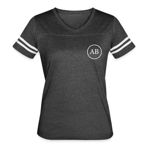 AB womens 2 striped t-shirt - Women's Vintage Sport T-Shirt