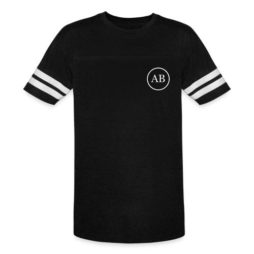 AB mens 2 striped t-shirt - Vintage Sport T-Shirt