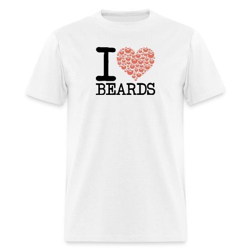 I Heart Beards - Men's T-Shirt