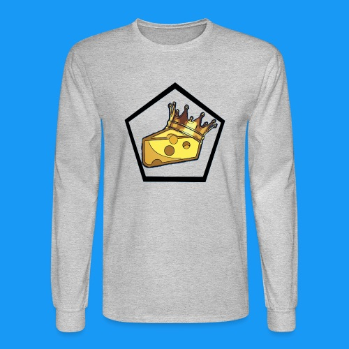 King Cheesy Logo Pentagon LS - Men's Long Sleeve T-Shirt