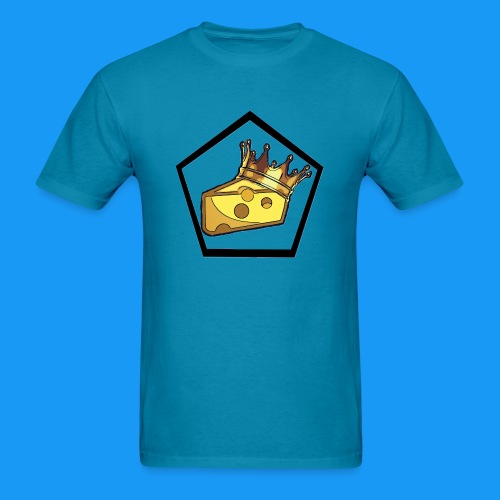 King Cheesy Logo Pentagon T - Men's T-Shirt