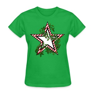Army Star Holiday / Christmas Shirts - Candy Cane -  Women's Basic T - Women's T-Shirt