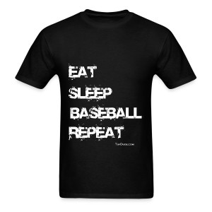 Eat Sleep Baseball Repeat - Men's T-Shirt
