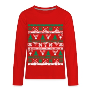 Bacon Ugly Sweater GRNWHT