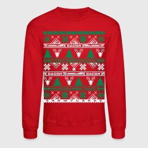 Bacon Ugly Sweater Crewneck Sweatshirt - Crewneck Sweatshirt